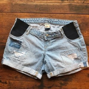 Old Navy Maternity Distressed Jean Shorts